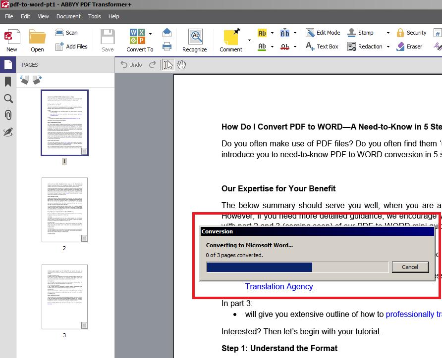 Free Word to PDF Converter - Download